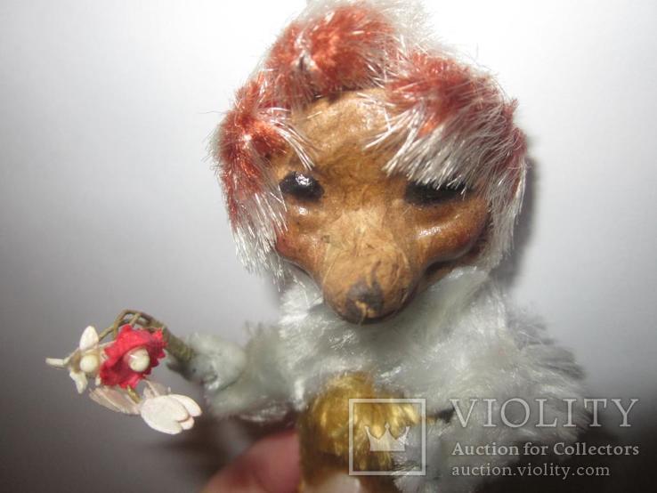 Ёжик ёж с цветами папье маше ГДР, фото №5