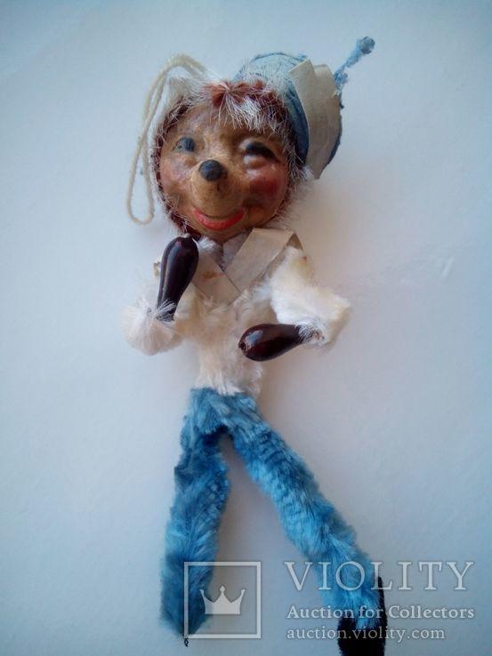 Ёлочная игрушка ёж ёжик моряк папье маше ГДР, фото №3
