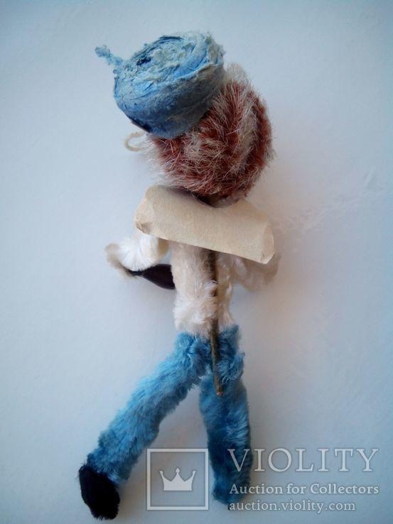 Ёлочная игрушка ёж ёжик моряк папье маше ГДР, фото №4