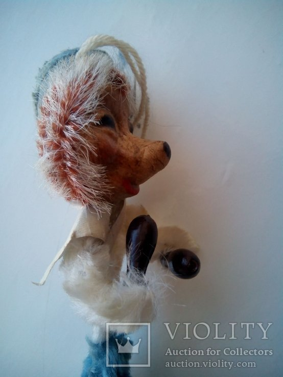 Ёлочная игрушка ёж ёжик моряк папье маше ГДР, фото №5