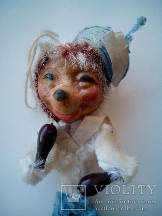 Ёлочная игрушка ёж ёжик моряк папье маше ГДР, фото №2