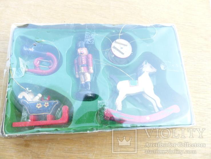 Елочные игрушки  винтаж - дерево - германия, фото №3