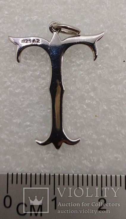 Кулон подвеска серебро 925 покрытие родий, фото №3