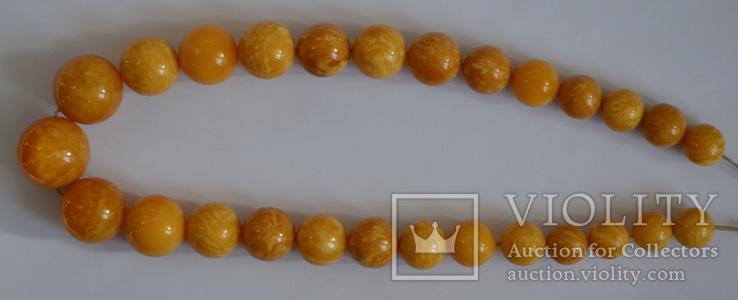 Янтарные бусы 108 грамм., фото №6