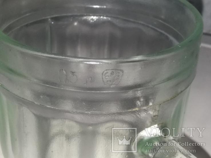Пивной бокал 16 прямых граней, фото №6