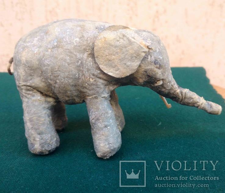 Ялинкова прикраса: Цирковий слон, вата, 30-40-ві рр., фото №3