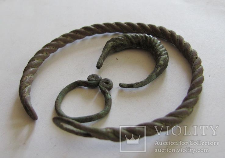 Витой браслет, колечка период КР, фото №3