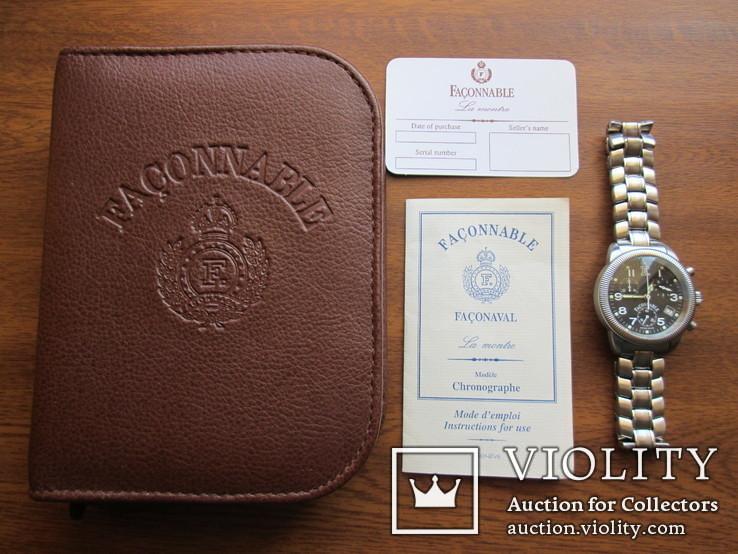 Швейцарские часы FACONNABLE Хронограф  Новые(не ношенные)