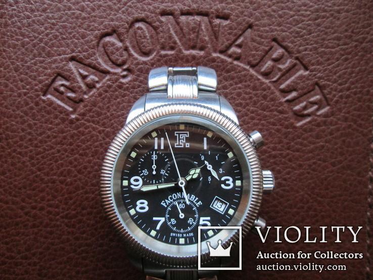 Швейцарские часы FACONNABLE Хронограф  Новые(не ношенные), фото №4