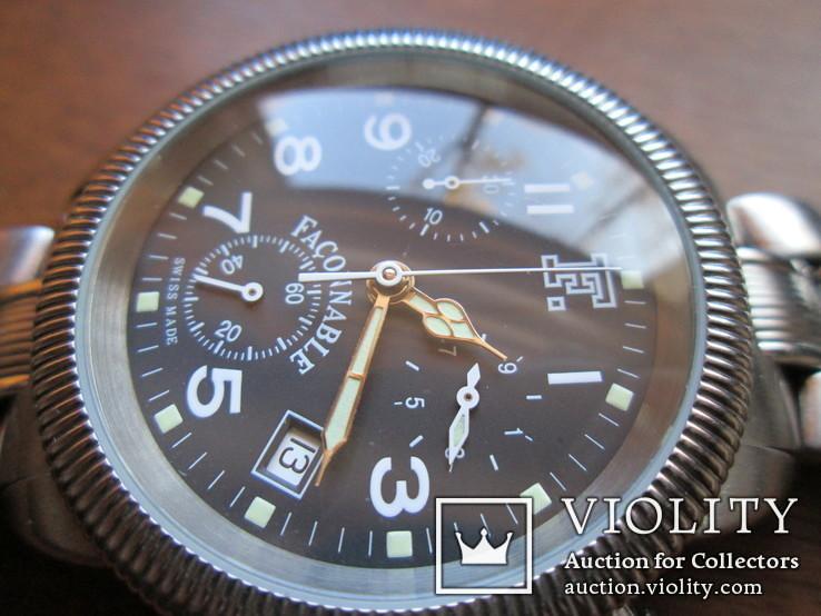 Швейцарские часы FACONNABLE Хронограф  Новые(не ношенные), фото №7