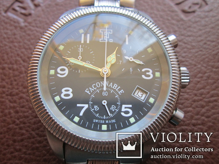 Швейцарские часы FACONNABLE Хронограф  Новые(не ношенные), фото №12