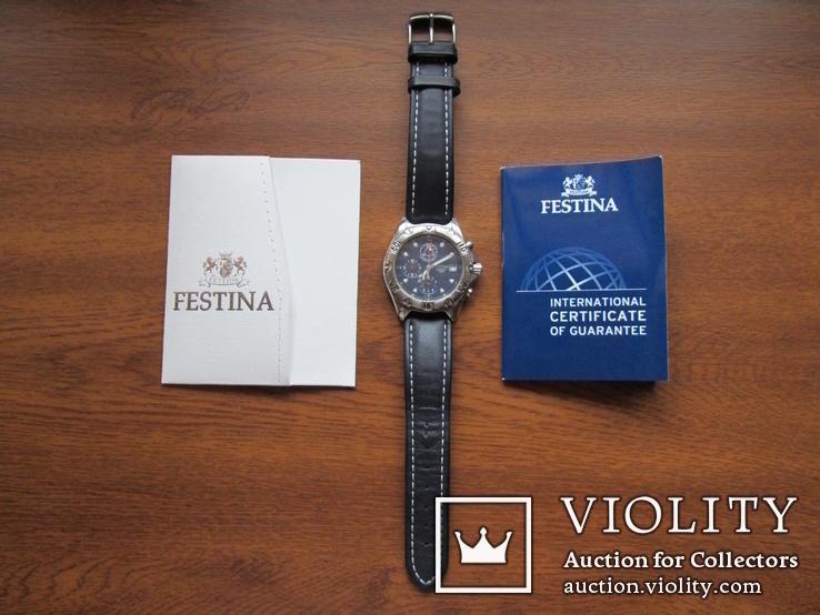 Часы Festina Хронограф новые с документом, фото №2