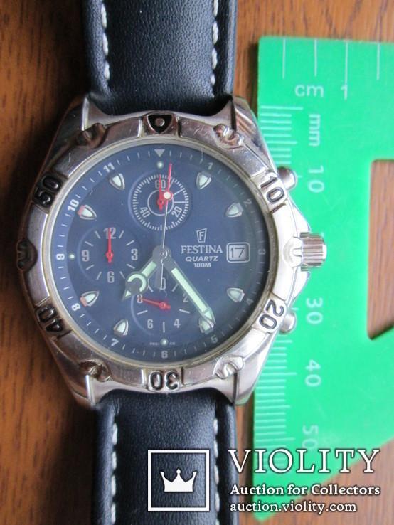 Часы Festina Хронограф новые с документом, фото №13