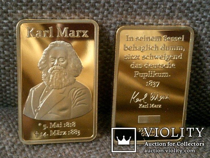 Слиток Карл Маркс реплика, фото №3