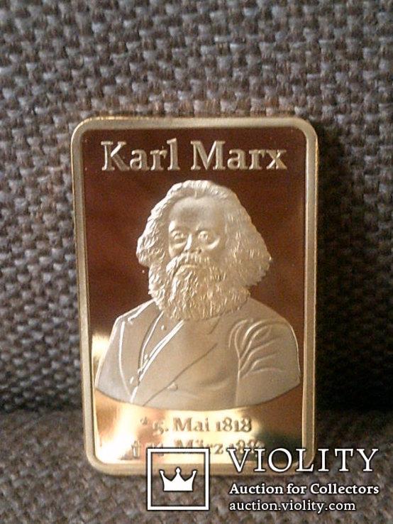 Слиток Карл Маркс реплика, фото №4