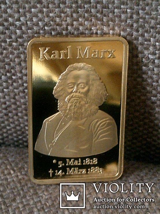 Слиток Карл Маркс реплика, фото №5