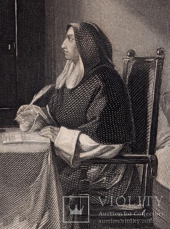 Старинная гравюра. 1860 годa. Савонарола. Пейн. (26,5х19,5см.)., фото №3