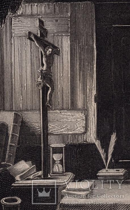 Старинная гравюра. 1860 годa. Савонарола. Пейн. (26,5х19,5см.)., фото №4