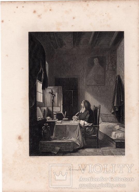 Старинная гравюра. 1860 годa. Савонарола. Пейн. (26,5х19,5см.)., фото №8