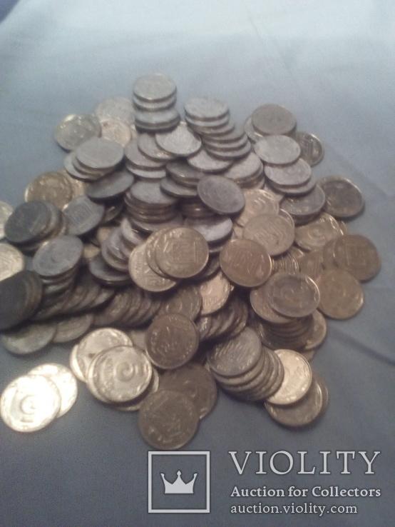 Монеты Украинские 5 копеек 228 шт одним лотом 1992г