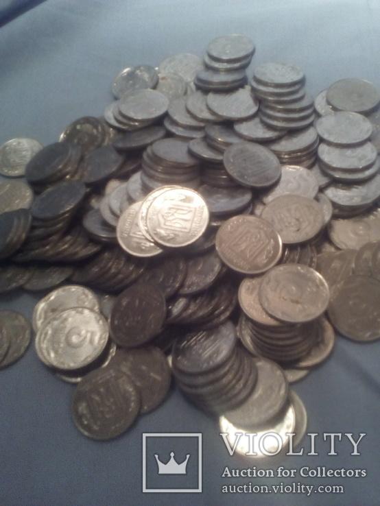 Монеты Украинские 5 копеек 228 шт одним лотом 1992г, фото №3