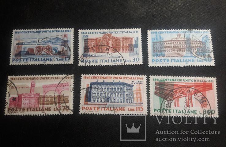 Серия марок Италии 1961 г., фото №2