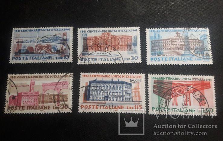 Серия марок Италии 1961 г., фото №3