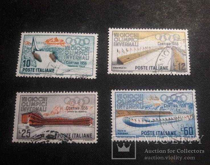 Серия марок Италии 1956 г., фото №2