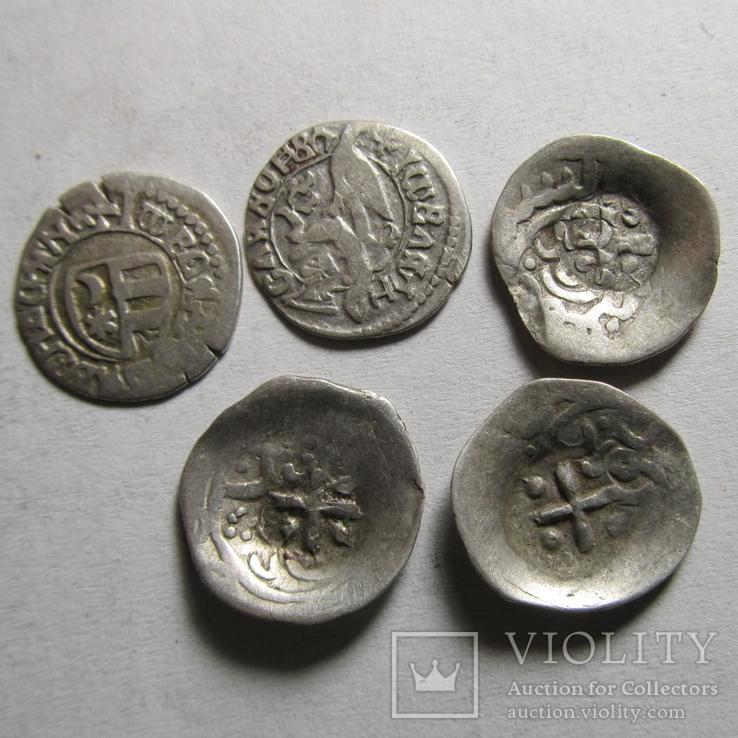 Монеты Валахии Аспрокастрон - 5 шт