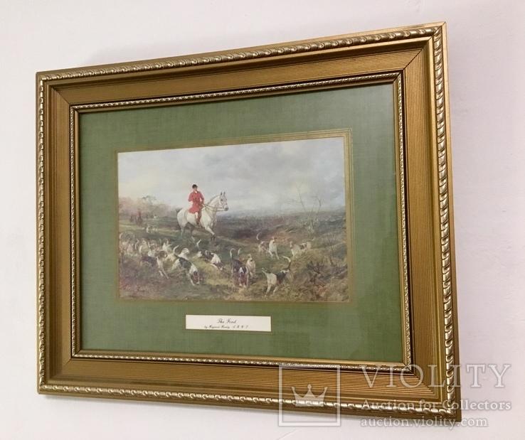 Картина Охота The find старая англия в раме 36х44 см