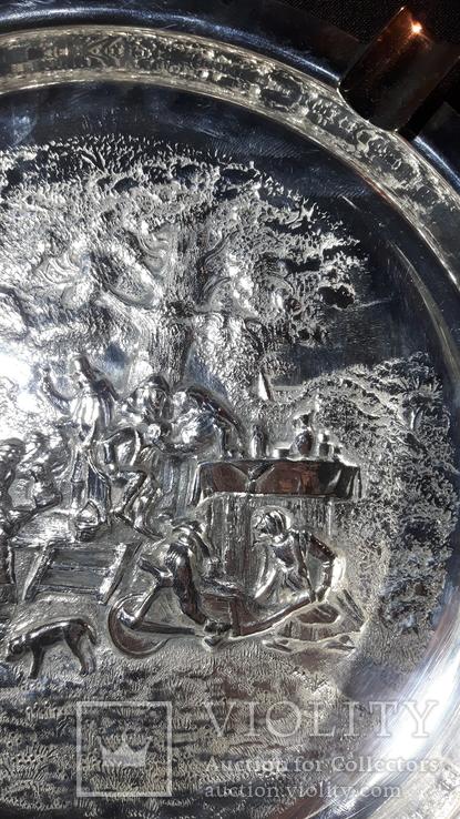 Пепельница/Европа/Барильеф/Серебрение/Клеймо, фото №8