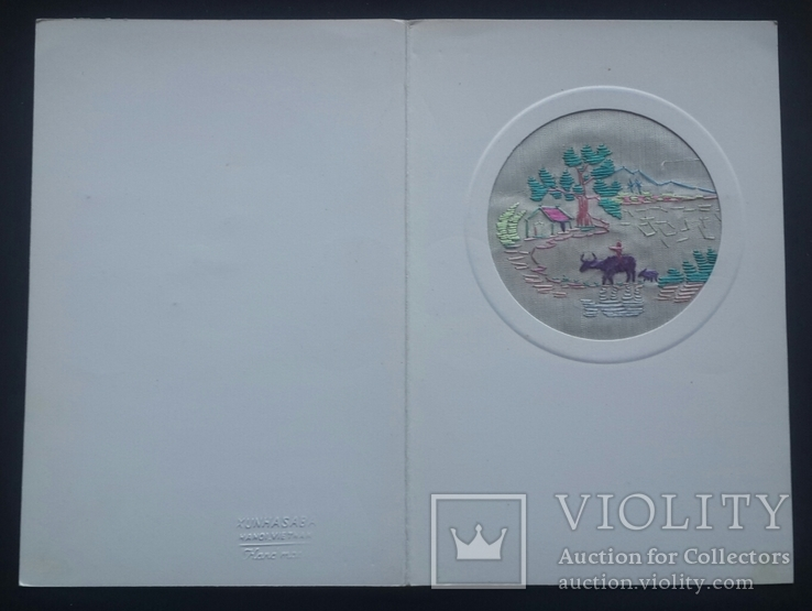 Открытка Вьетнам. Тканевая вставка., фото №2