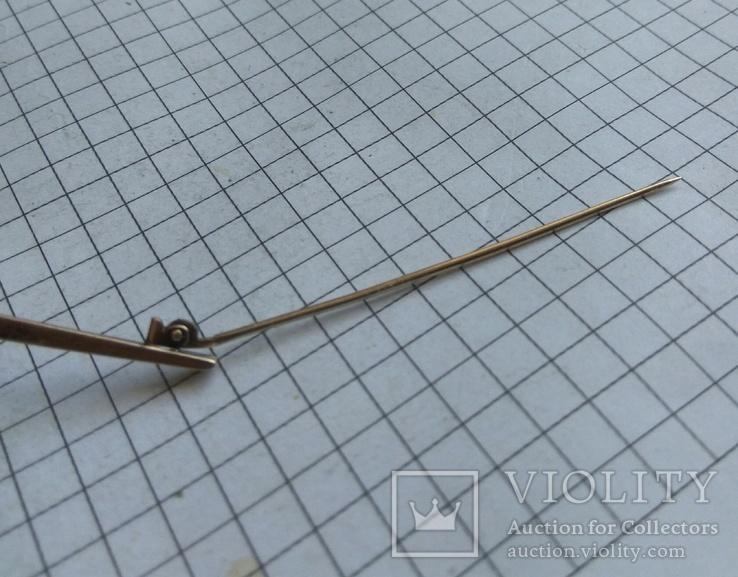 Зажим для галстука винтаж серебро, фото №3