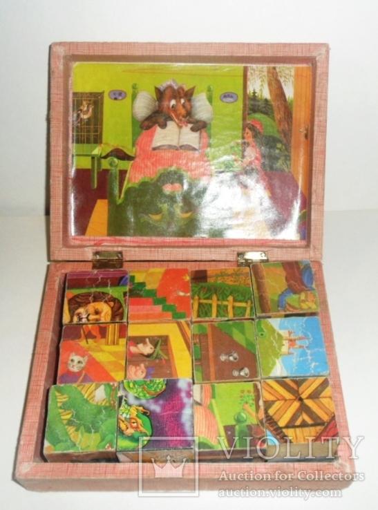 Игрушка кубики СССР русские народные сказки, фото №3