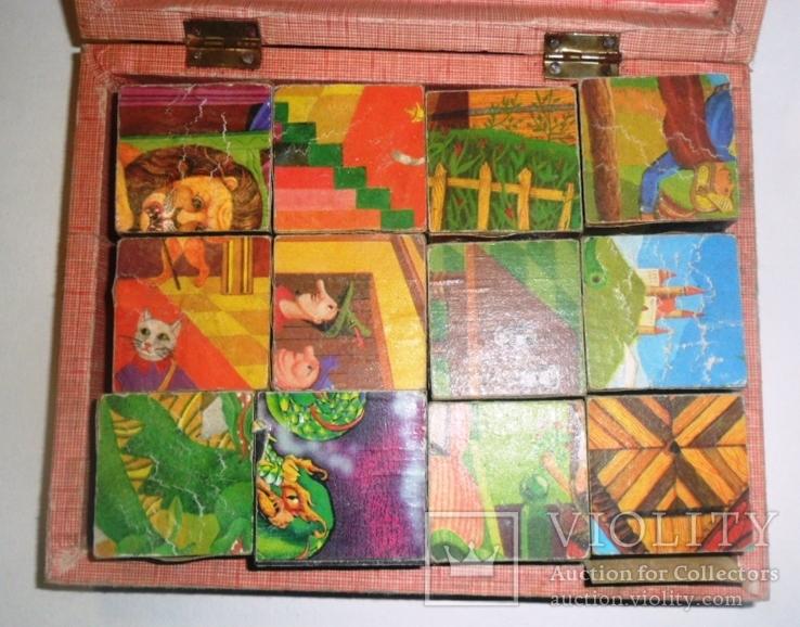 Игрушка кубики СССР русские народные сказки, фото №4