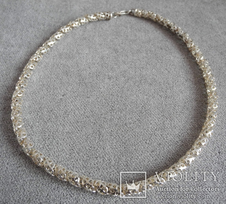 Серебряное ожерелье (серебро 925 пр, вес 29 гр)