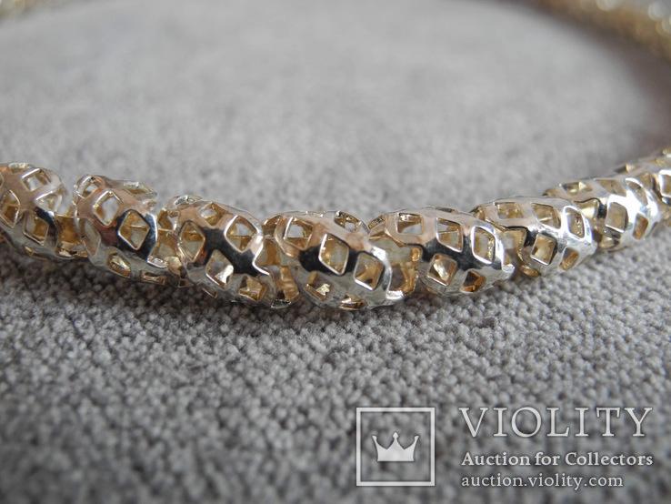 Серебряное ожерелье (серебро 925 пр, вес 29 гр), фото №5