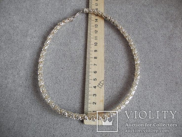 Серебряное ожерелье (серебро 925 пр, вес 29 гр), фото №9