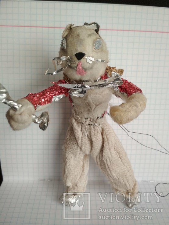 Старая елочная игрушка из ваты, фото №6