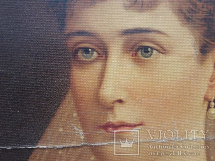 Портрет дружини Миколи другого Александра Федоровна. Репродукция., фото №5