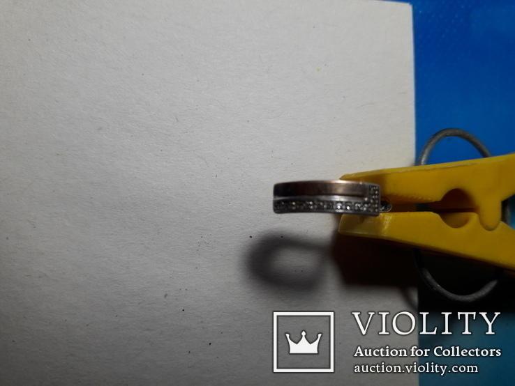 Серьги и кольцо.золото+ серебро., фото №6