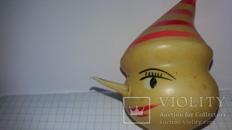 "Ретро елочная игрушка ""Голова Буратино"" 40-50-е годы, фото №7"