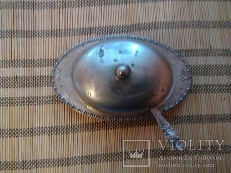 Масленка, Икорница, родное стекло., фото №2