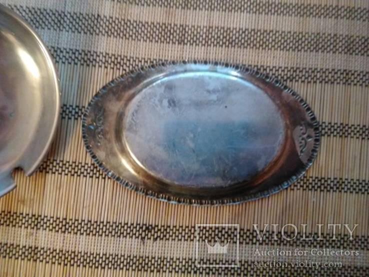Масленка, Икорница, родное стекло., фото №4