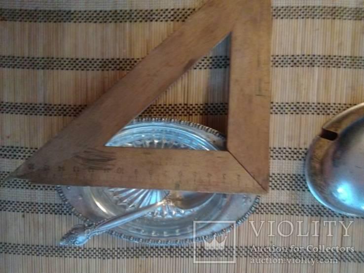 Масленка, Икорница, родное стекло., фото №5