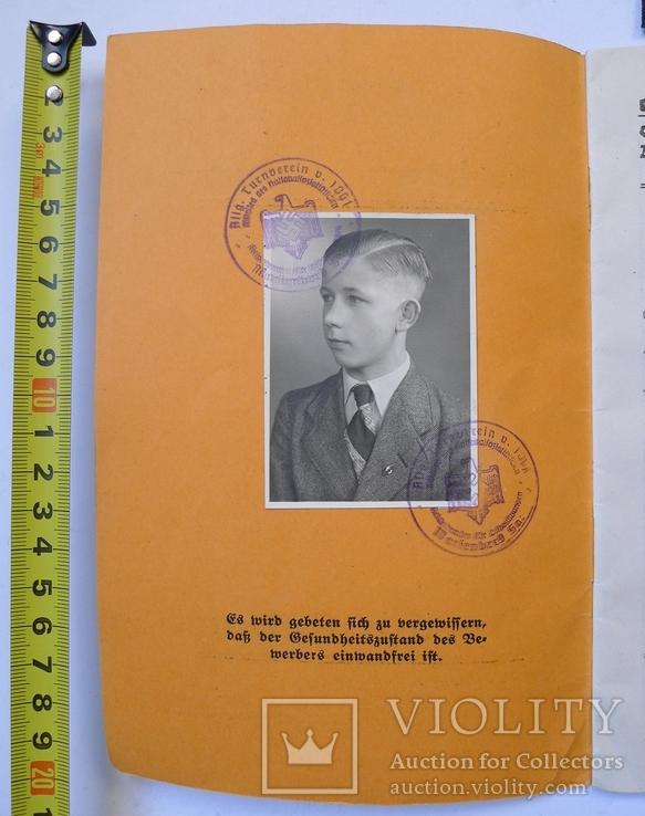 Шитый спортивный знак RJA с документом. Спортивный знак молодежи Рейха (RJA), фото №3