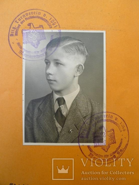 Шитый спортивный знак RJA с документом. Спортивный знак молодежи Рейха (RJA), фото №4