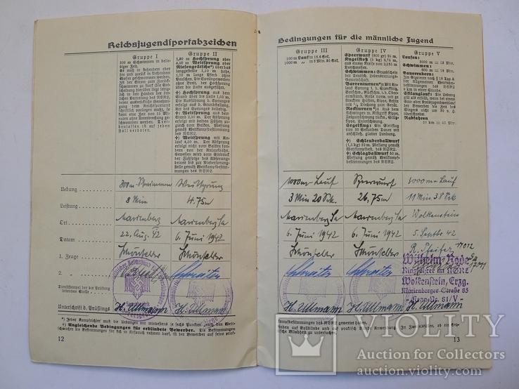 Шитый спортивный знак RJA с документом. Спортивный знак молодежи Рейха (RJA), фото №12