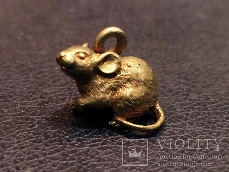 Крыса крыска бронза коллекционная миниатюра брелок