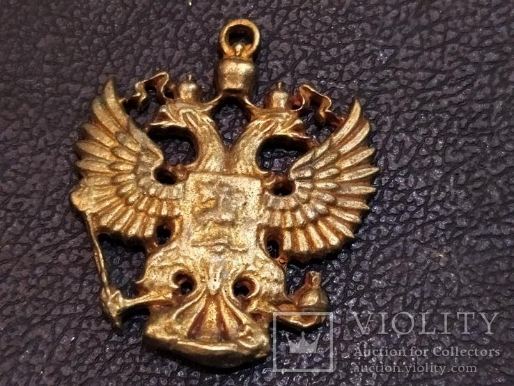 Орел Двухглавый брелок бронза коллекционная миниатюра, фото №4